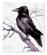 American Crow Fleece Blanket