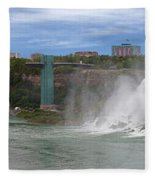 American Falls And Rainbow Bridge Fleece Blanket