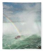 Horseshoe Waterfall At Niagara Falls Fleece Blanket