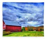 American Farmer Fleece Blanket