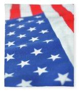 American Flag 2 Fleece Blanket