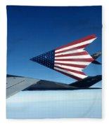 American Flag F 117 Nighthawks Fleece Blanket