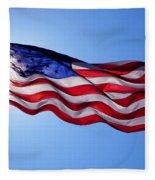American Flag Fort Sumter Fleece Blanket