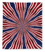 American Flag Kaleidoscope Abstract 6 Fleece Blanket