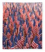 American Flags In Tampa Fleece Blanket