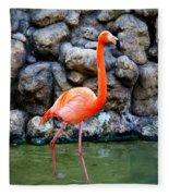 American Flamingo Fleece Blanket