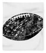 American Football-black Fleece Blanket