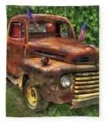 American Ford 1950 F-1 Ford Pickup Truck Art Fleece Blanket