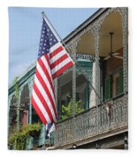American French Quarter Fleece Blanket