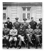 American Generals Wwii  Fleece Blanket