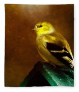American Gold Finch In Texture Fleece Blanket
