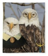 American Gothic Eagle Style Fleece Blanket