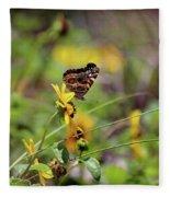 American Lady Butterfly Seaside Fleece Blanket
