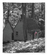 American Little House In The Woods Fleece Blanket