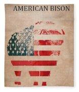 American Mammal The Bison Fleece Blanket