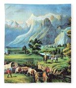 American Manifest Destiny, 19th Century Fleece Blanket