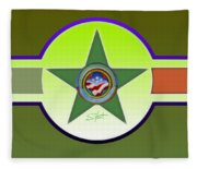 American Olive Fleece Blanket