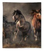 American Paint Horses Fleece Blanket