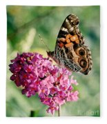 American Painted Lady Fleece Blanket