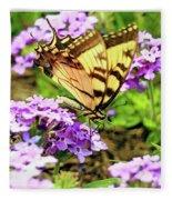 Yellow Eastern Tiger Swallowtail Series Fleece Blanket