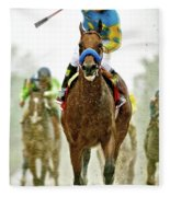 American Pharoah And Victor Espinoza Win The 2015 Preakness Stakes. Fleece Blanket
