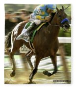 American Pharoah And Victory Espinoza Win The 2015 Belmont Stakes Fleece Blanket