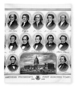 American Presidents First Hundred Years Fleece Blanket