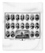 American Presidents First Hundred Years Fleece Blanket