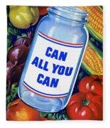 American Propaganda Poster Promoting Canned Food Fleece Blanket
