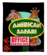 American Safari Motel Fleece Blanket
