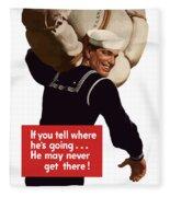 American Sailor -- Ww2 Propaganda Fleece Blanket