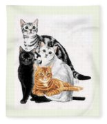 American Shorthair Fleece Blanket