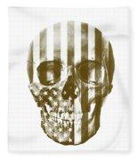 American Skull Beige Fleece Blanket