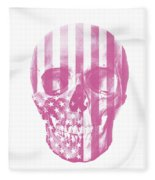 American Skull Pink Fleece Blanket