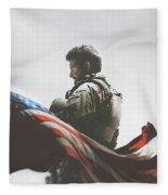 American Sniper 2014 Fleece Blanket