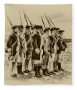 American Soldiers At Fort Mifflin Fleece Blanket