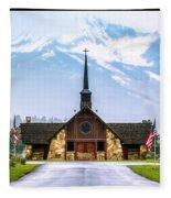 American Soldiers Chapel Fleece Blanket