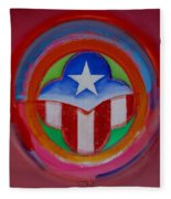 American Star Button Fleece Blanket