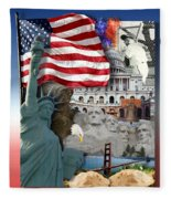 American Symbolicism Fleece Blanket