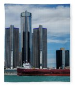 American Victory At Detroit Fleece Blanket