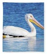 American White Pelican Fleece Blanket