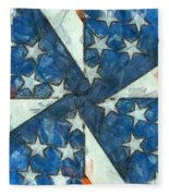 Americana Abstract Fleece Blanket