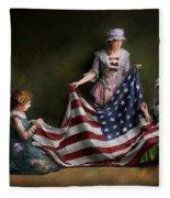 Americana - Flag - Birth Of The American Flag 1915 Fleece Blanket