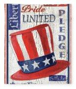 Americana Patriotic Fleece Blanket