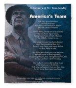 America's Team Poetry Art Fleece Blanket