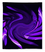 Amethyst Heart Sun Fleece Blanket