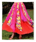 Ameynra Belly Dance Fashion - Multi-color Skirt 93 Fleece Blanket
