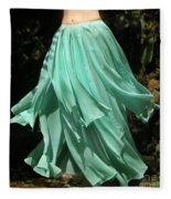 Ameynra Design Aqua-green Chiffon Skirt Fleece Blanket
