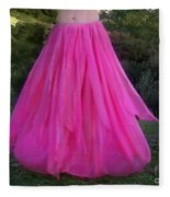 Ameynra Design Pink Chiffon Petal Skirt Fleece Blanket