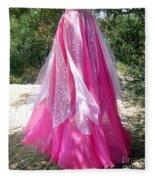 Ameynra Design - Pink-white Petal Skirt 146 Fleece Blanket